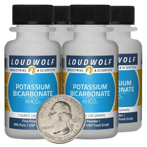 Potassium Bicarbonate - 4 Ounces in 4 Bottles