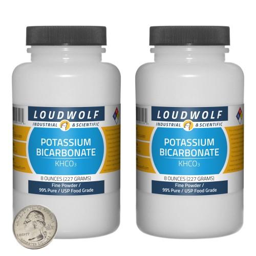 Potassium Bicarbonate - 1 Pound in 2 Bottles