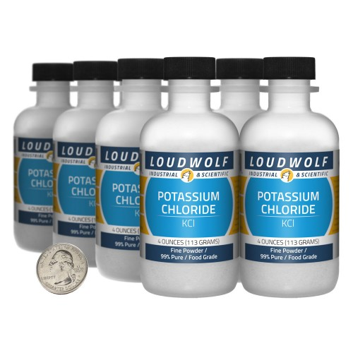 Potassium Chloride - 2 Pounds in 8 Bottles