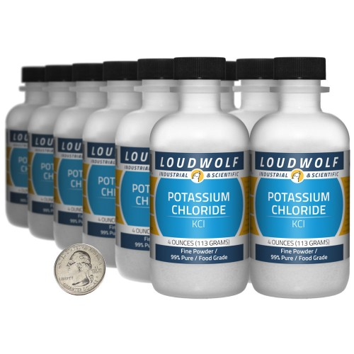 Potassium Chloride - 3 Pounds in 12 Bottles