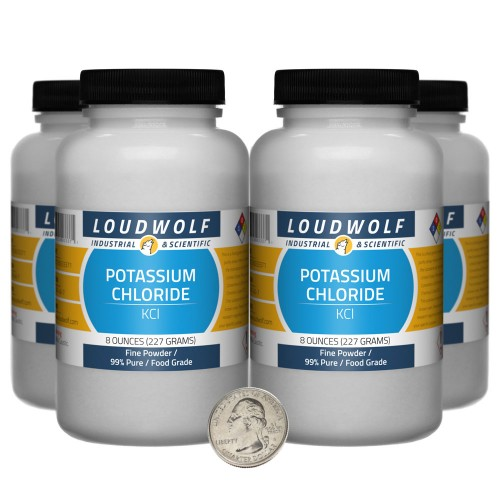 Potassium Chloride - 2 Pounds in 4 Bottles