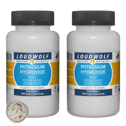 Potassium Hydroxide - 12 Ounces in 2 Bottles