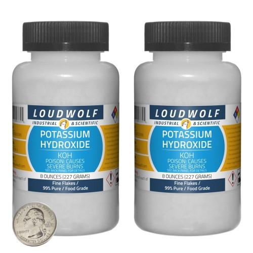 Potassium Hydroxide - 1 Pound in 2 Bottles