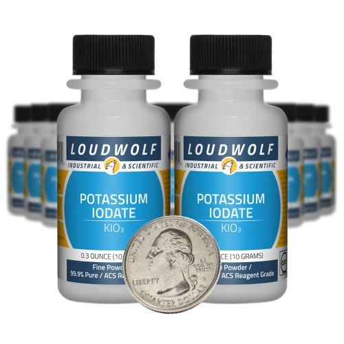 Potassium Iodate - 7 Ounces in 20 Bottles