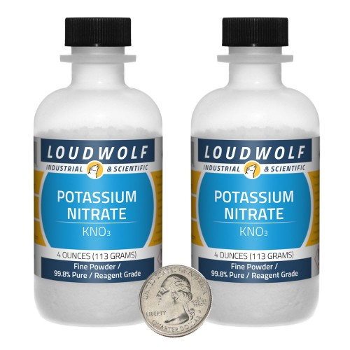 Potassium Nitrate - 8 Ounces in 2 Bottles
