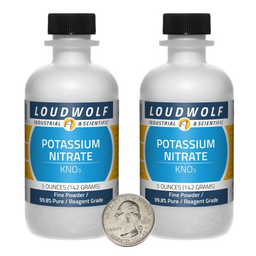 Potassium Nitrate - 10 Ounces in 2 Bottles