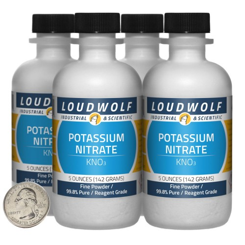 Potassium Nitrate - 1.3 Pounds in 4 Bottles