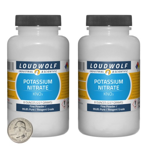 Potassium Nitrate - 1 Pound in 2 Bottles