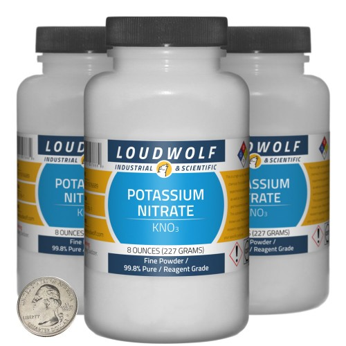 Potassium Nitrate - 1.5 Pounds in 3 Bottles