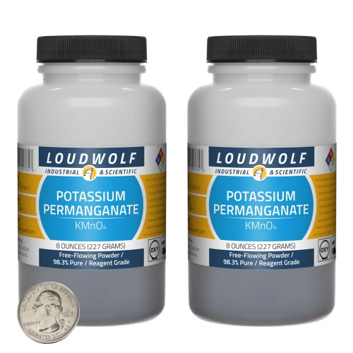 Potassium Permanganate - 1 Pound in 2 Bottles
