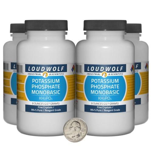 Potassium Phosphate Monobasic - 2 Pounds in 4 Bottles