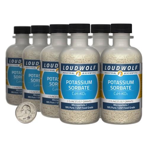 Potassium Sorbate - 1 Pound in 8 Bottles