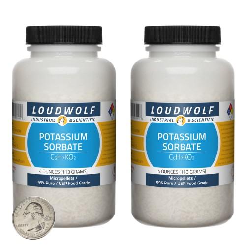 Potassium Sorbate - 8 Ounces in 2 Bottles