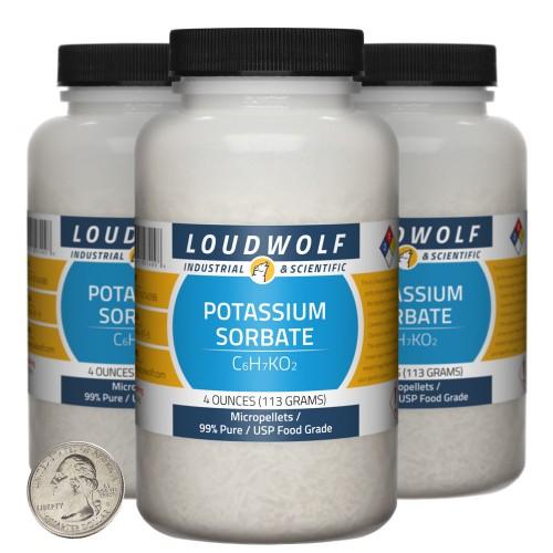 Potassium Sorbate - 12 Ounces in 3 Bottles