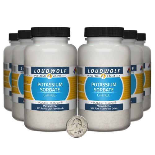 Potassium Sorbate - 1.5 Pounds in 6 Bottles