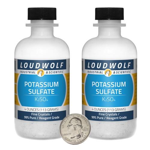 Potassium Sulfate - 8 Ounces in 2 Bottles