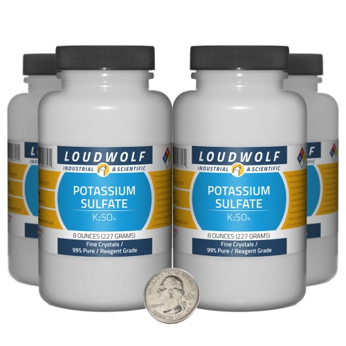 Potassium Sulfate - 2 Pounds in 4 Bottles
