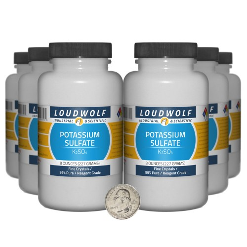 Potassium Sulfate - 3 Pounds in 6 Bottles