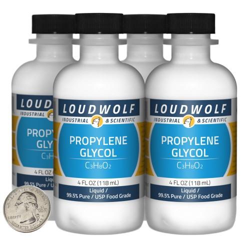 Propylene Glycol - 16 Fluid Ounces in 4 Bottles