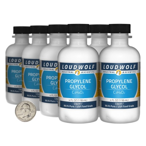 Propylene Glycol - 32 Fluid Ounces in 8 Bottles