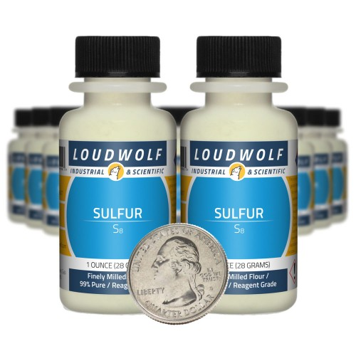 Sulfur - 1.3 Pounds in 20 Bottles