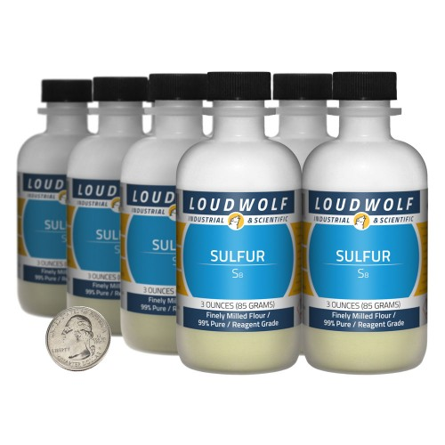 Sulfur - 1.5 Pounds in 8 Bottles