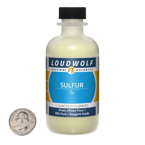 Sulfur - 4 Ounces in 1 Bottle