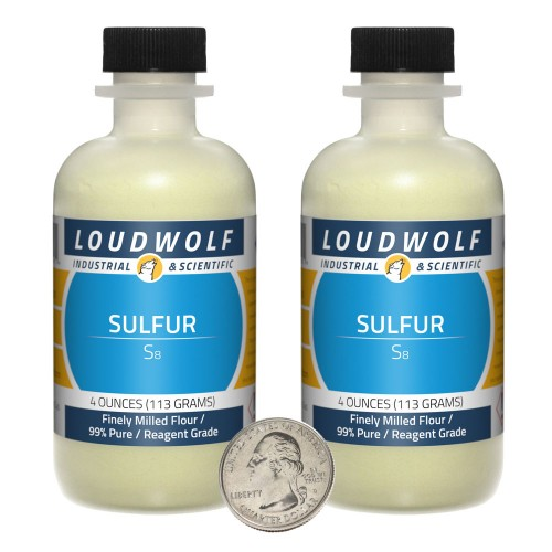 Sulfur - 8 Ounces in 2 Bottles