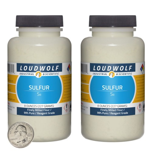 Sulfur - 1 Pound in 2 Bottles