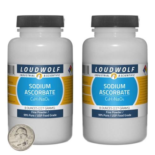 Sodium Ascorbate - 1 Pound in 2 Bottles