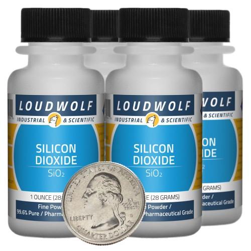 Silicon Dioxide - 4 Ounces in 4 Bottles