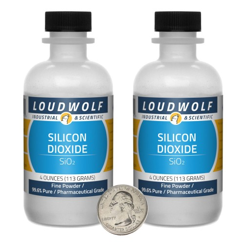 Silicon Dioxide - 8 Ounces in 2 Bottles