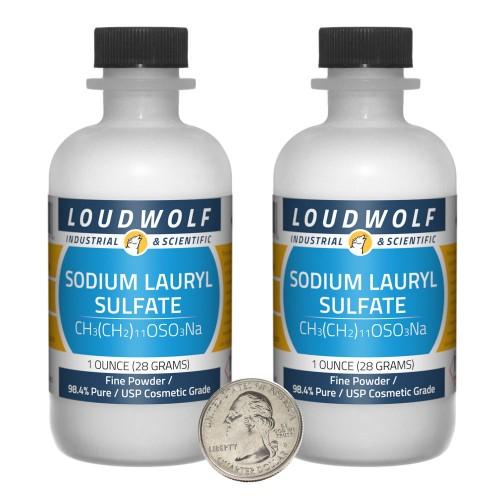 Sodium Lauryl Sulfate - 2 Ounces in 2 Bottles