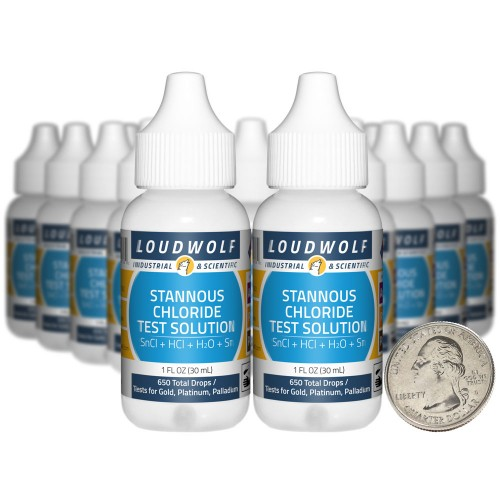 Gold Test Solution - 20 Fluid Ounces in 20 Bottles