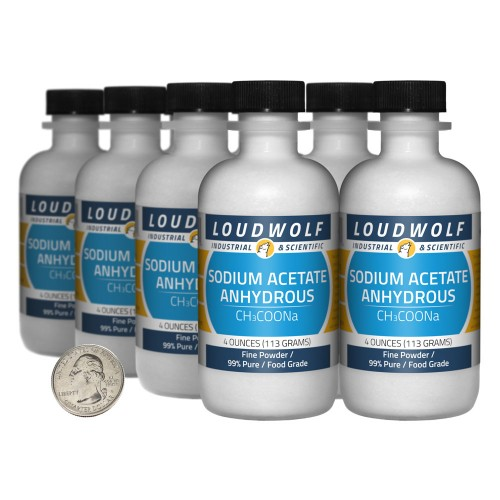 Sodium Acetate Anhydrous - 2 Pounds in 8 Bottles