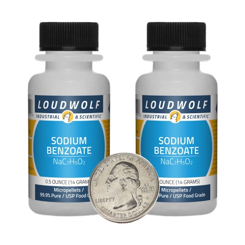 Sodium Benzoate - 1 Ounce in 2 Bottles