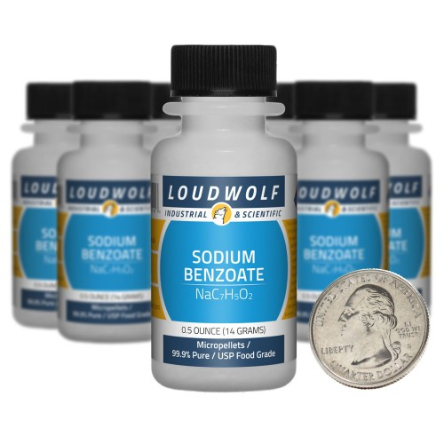 Sodium Benzoate - 5 Ounces in 10 Bottles