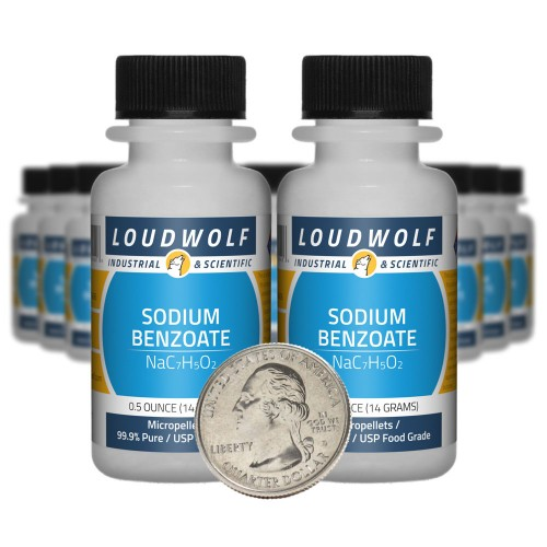 Sodium Benzoate - 10 Ounces in 20 Bottles