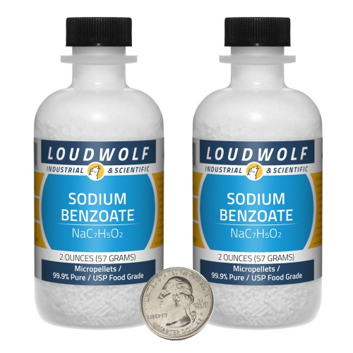 Sodium Benzoate - 4 Ounces in 2 Bottles