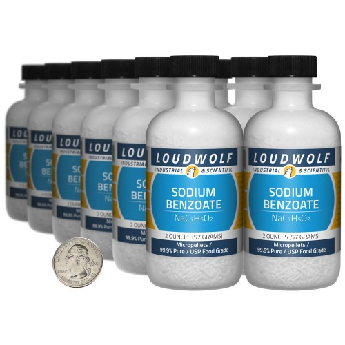 Sodium Benzoate - 1.5 Pounds in 12 Bottles