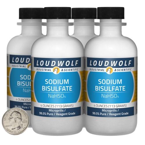 Sodium Bisulfate - 1 Pound in 4 Bottles