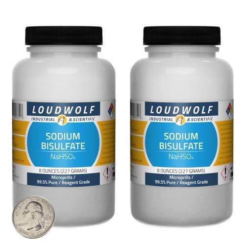 Sodium Bisulfate - 1 Pound in 2 Bottles