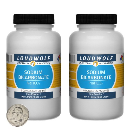 Sodium Bicarbonate - 1 Pound in 2 Bottles