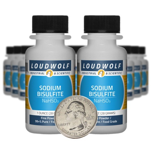 Sodium Bisulfite - 1.3 Pounds in 20 Bottles