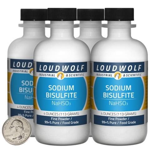 Sodium Bisulfite - 1 Pound in 4 Bottles