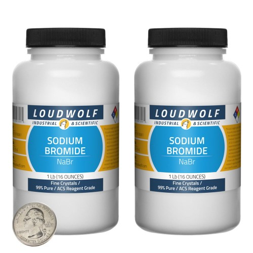Sodium Bromide - 2 Pounds in 2 Bottles