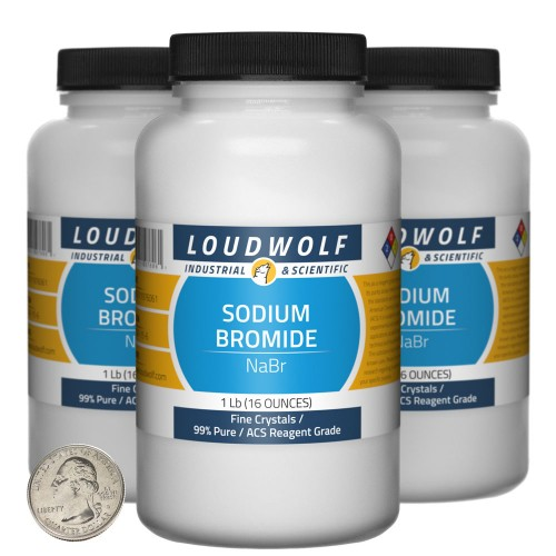 Sodium Bromide - 3 Pounds in 3 Bottles