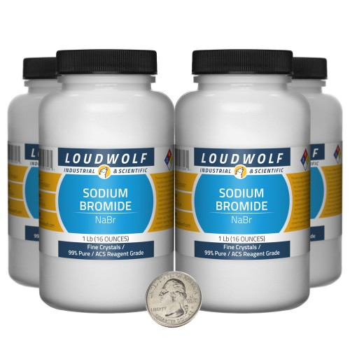 Sodium Bromide - 4 Pounds in 4 Bottles