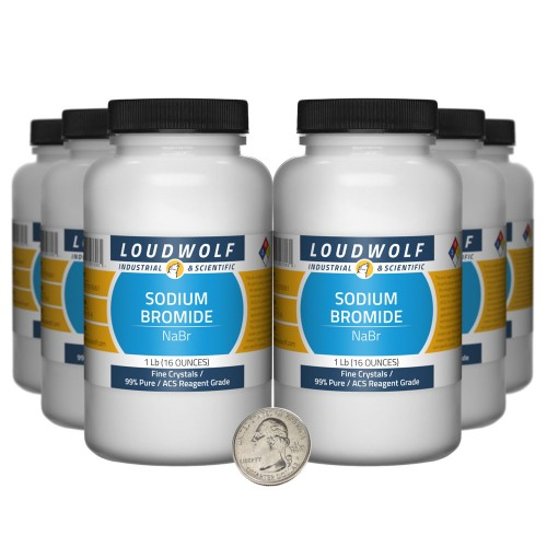 Sodium Bromide - 6 Pounds in 6 Bottles