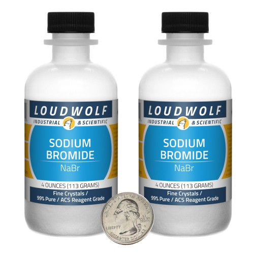 Sodium Bromide - 8 Ounces in 2 Bottles